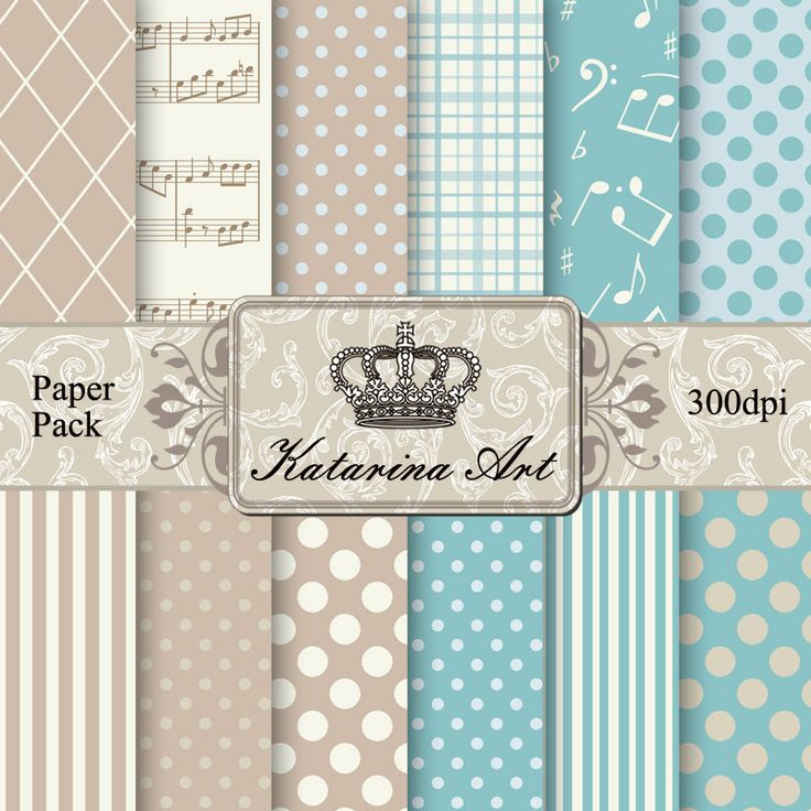 Shabby Printable paper. Scrapbook set of 12 backgrounds