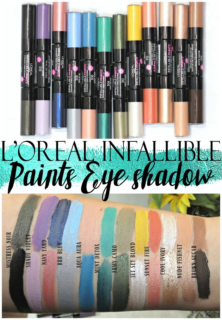 L'Oreal Infallible Paints Eyeshadow Swatches, Review + Application Tips
