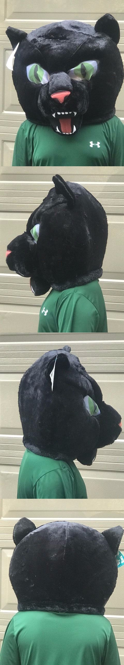 Masks and Eye Masks 116724: Plush Full Head Panther Mask Fan Mascot Furry Costume Halloween Child Teen Adult -> BUY IT NOW ONLY: $41.88 on eBay!