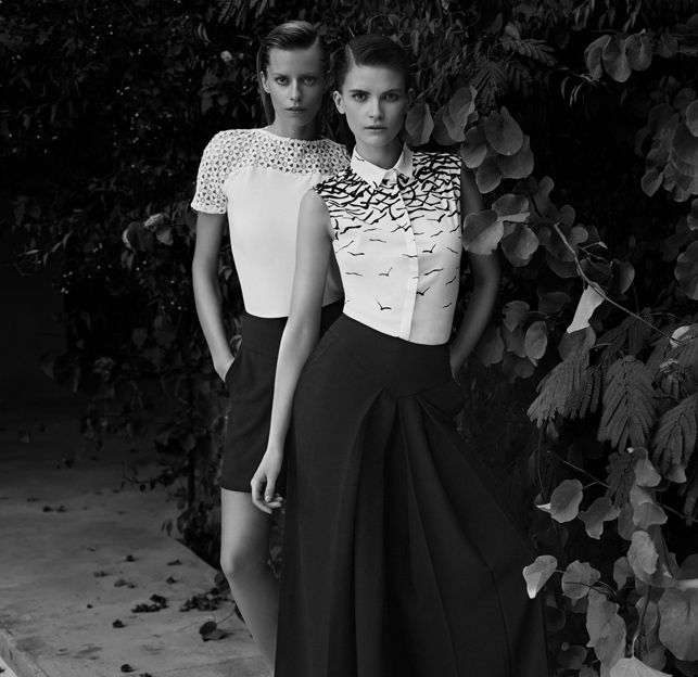Campaign Spring-Summer, Look left : Louca top and Lenora short. Look right : Looly shirt and Seltana Pants www.annefontaine.com #annefontaine #spring #summer #fashion