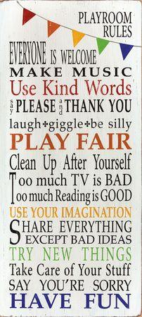 Playroom Rules Impressão artística