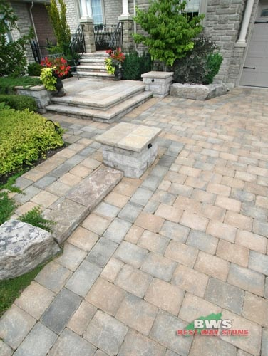 #outdoor #entrance: Best Way Stone > Paver: Strada Antico (Beige Mix) available at our store at 3500 Mavis Rd, Mississauga, ON L5C 1T8