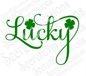 Shamrock Svg, Clover Svg, Lucky Svg, St. Patricks Day Svg, Digital Cutting File, eps, png, JPEG, DXF, SVG Cricut, Svg Silhouette, Print File