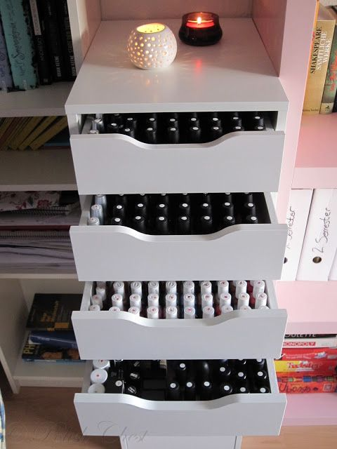 Nail Polish Storage - IKEA @Lisa Phillips-Barton Moak are you trying to tell me something? ;) I LOVE IT!