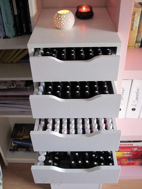 Nail Polish Storage - IKEA @Kelsey Plamondon YOU need this!