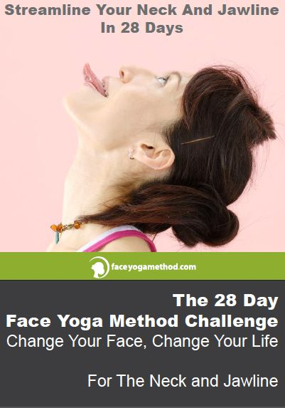 Download your Guide To the 28 Day Challenge for the Neck and Jawline - Weird but hey....I might try it!