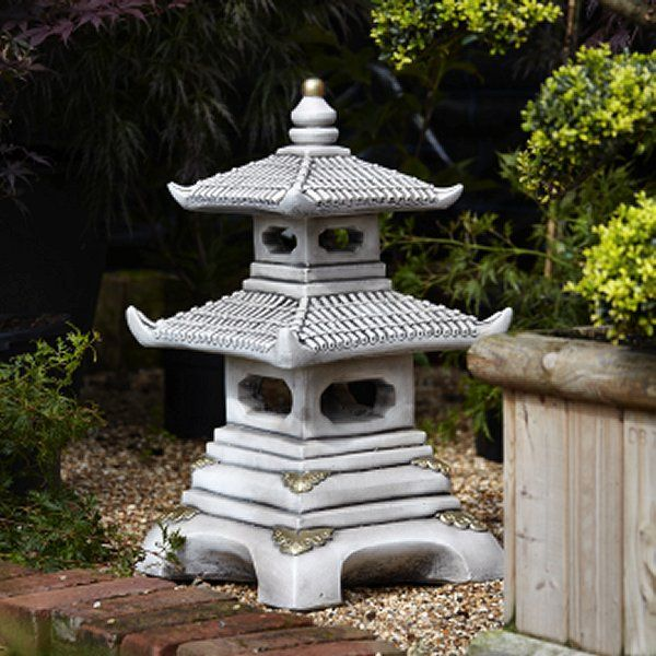 Two Tier Japanese Pagoda - Oriental Statues
