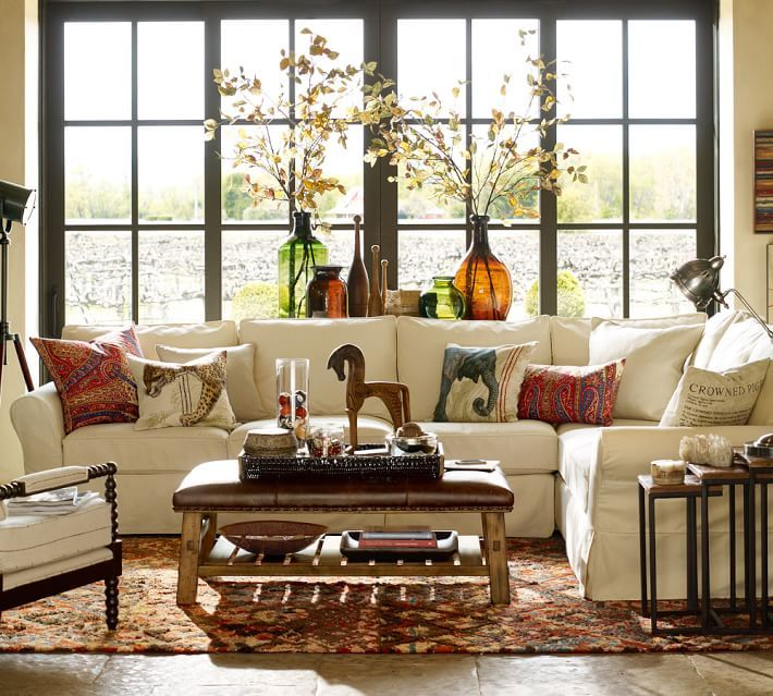 Love this ottoman and sectional.