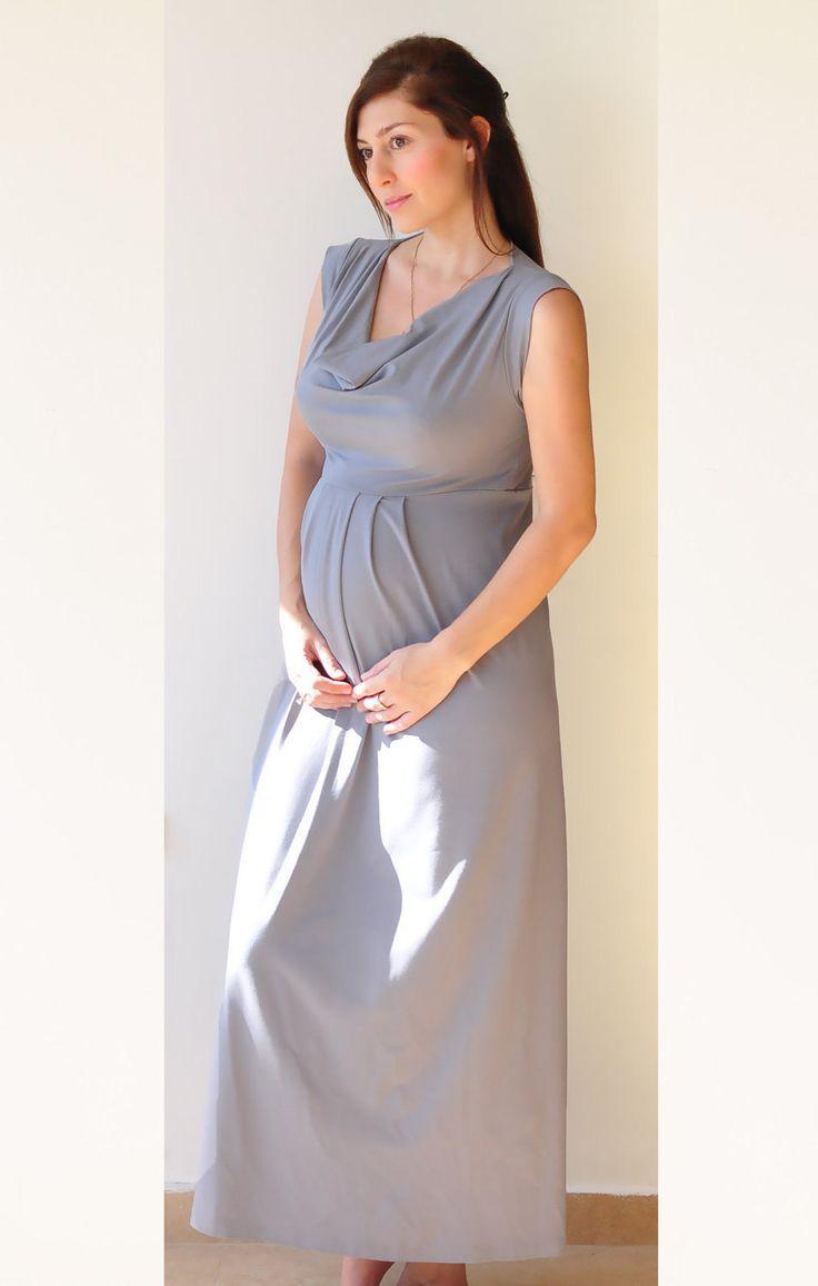 Best 20 silver maternity dresses ideas on pinterest beaded top maxi maternity dress in medium grey sleeveless by lirola on etsy ombrellifo Image collections