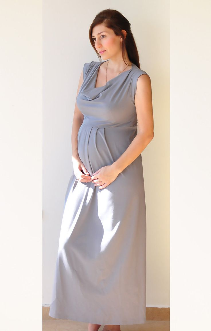 Empire waist maxi dress maternity