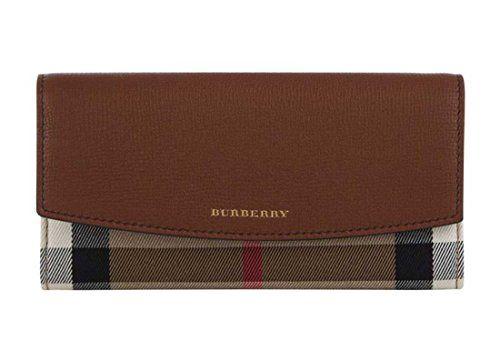バーバリー Burberry Porter House Check And Leather Continental レディース長財布 Wallet 小銭入れ LUXYPOP
