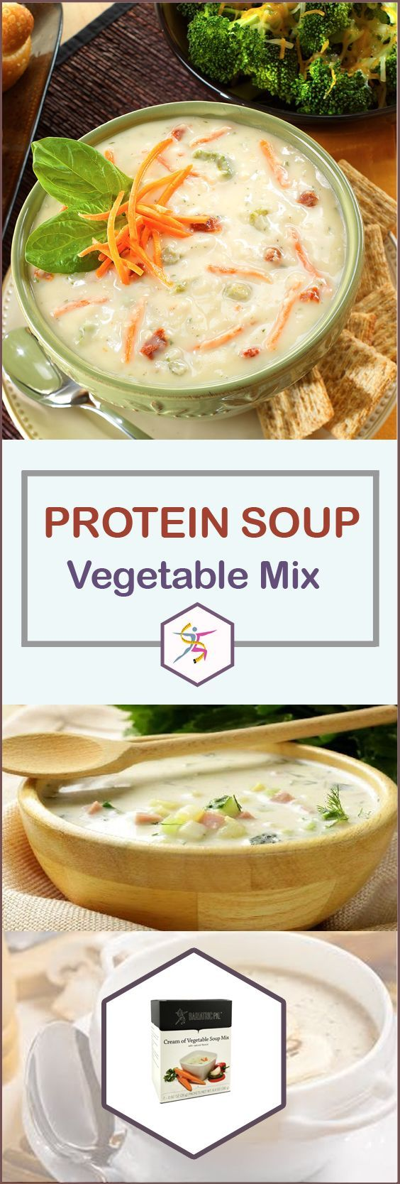 BariatricPal Protein Soup is your mealtime solution. Just add water and enjoy your instant high-protein soup. BariatricPal Protein Soup – Cream of Vegetable is a creamy comfort food without the extra fat and calories. Each bowl has only 90 calories and almost no fat! It has real vegetables like onions, bell peppers, leeks, and carrots, and 15 grams of protein. It can make you feel better pre-op and post-op while giving you the protein you need. 7 packets per box.