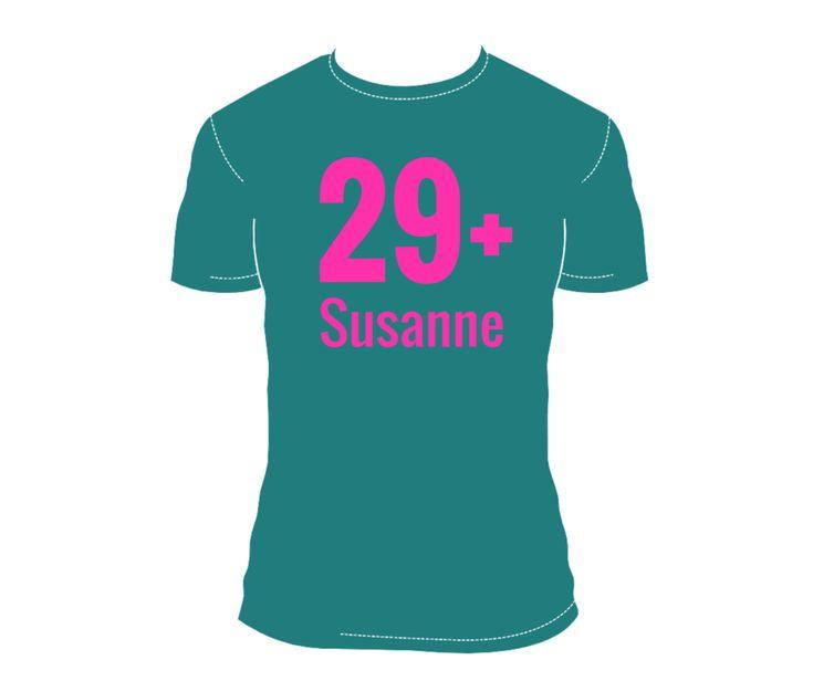 T-Shirt mit Text als #Einladung zum #Geburtstag