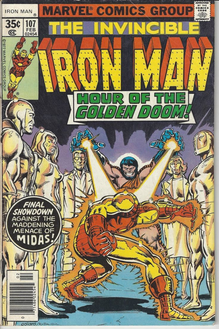 Vintage Marvel The Invincible Iron Man Feb. 1978 Comic Book #107 by FloridaFindersPaper on Etsy