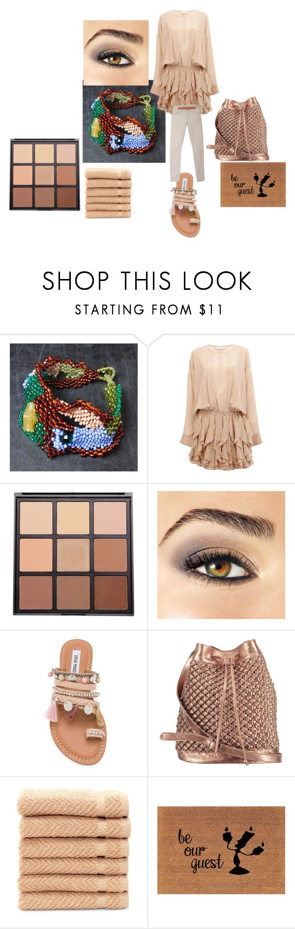 """""""Salt and sand"""" by mariellascode ❤ liked on Polyvore featuring Faith Connexion, Morphe, Avon, Steve Madden, nooki design, Linum Home Textiles and Acne Studios"""