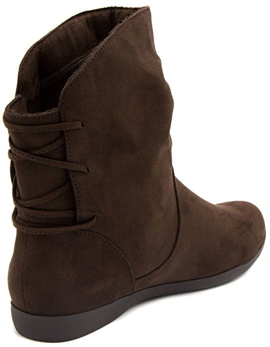 8e3acd5b06913 Amazon.com   Sugar Women's Brooke Slouched Flat Ankle Boot Bootie ...
