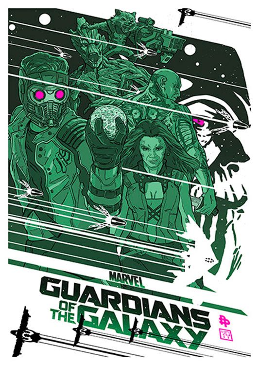 Guardians of the Galaxy Movie Poster, available at 45x32cm. This poster is printed on matt coated 350 gram paper.