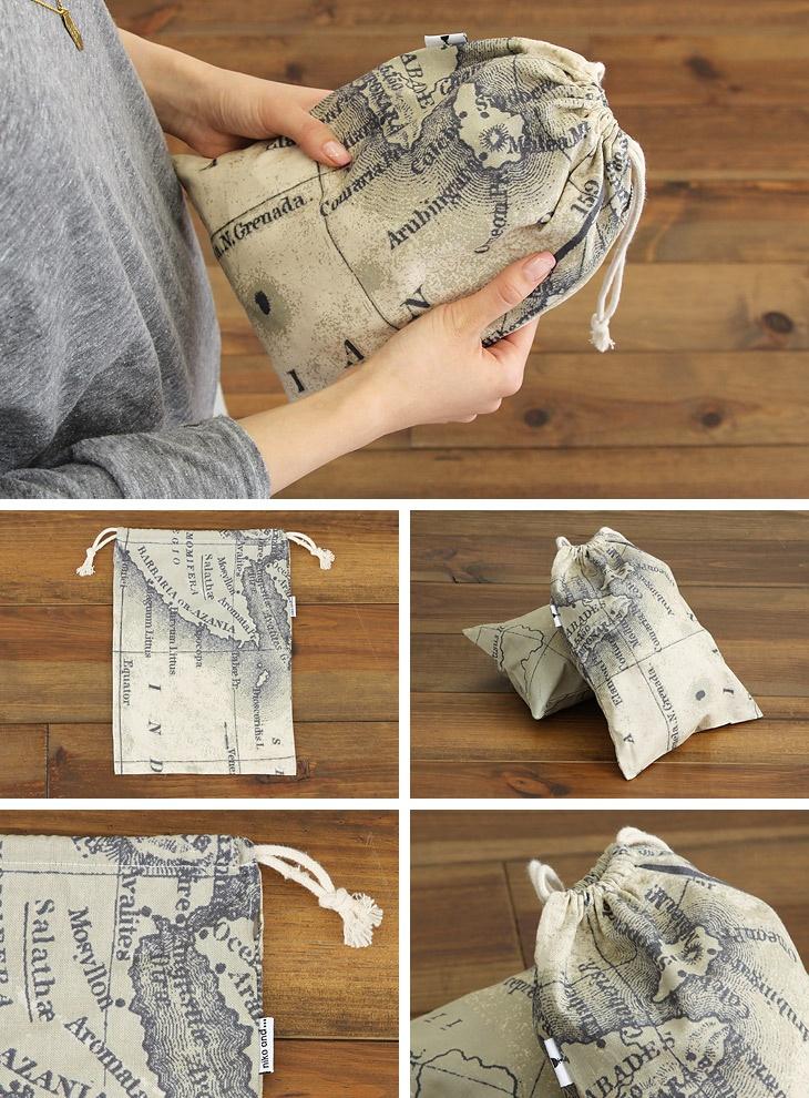 オリジナル 海図巾着L A4
