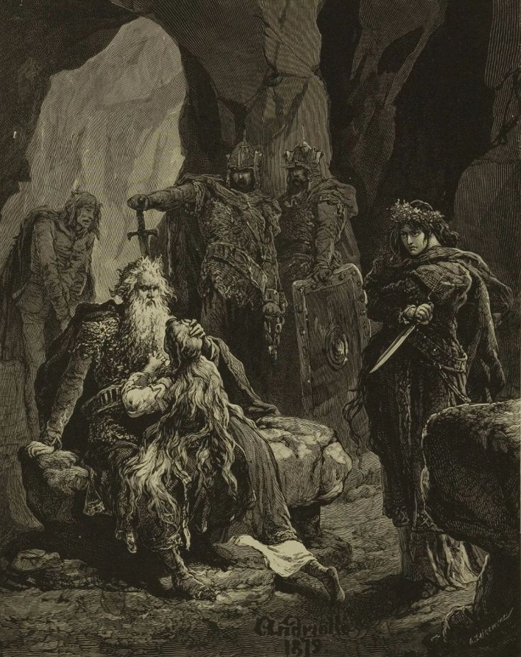 """Michał Elwiro Andriolli (1836-1893): a set of illustrations for the drama """"Lilla Weneda"""" by Juliusz Słowacki, from a book released in 1883 [via Polona]."""