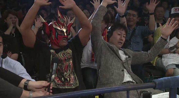 Japanese Wrestling Announcers Reacting To A Match