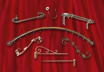arched window curved curtain rod - Google Search
