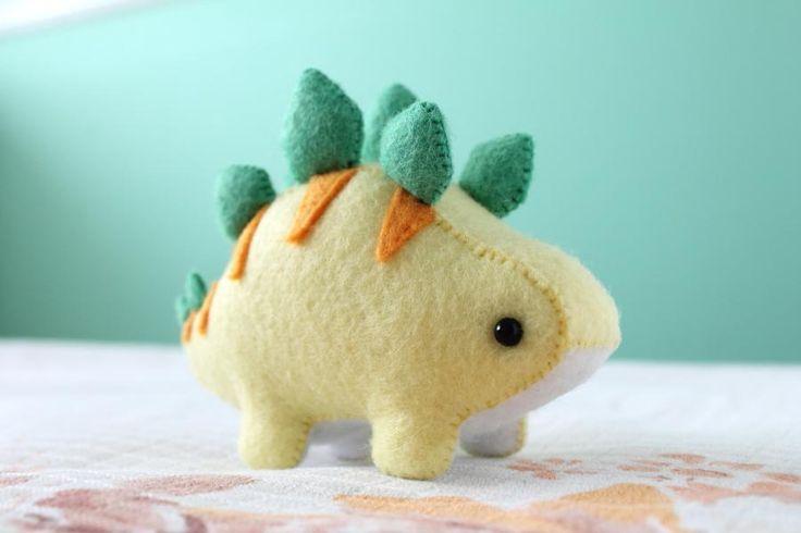 (9) Name: 'Sewing : Felt Stegosaurus Dinosaur Plush