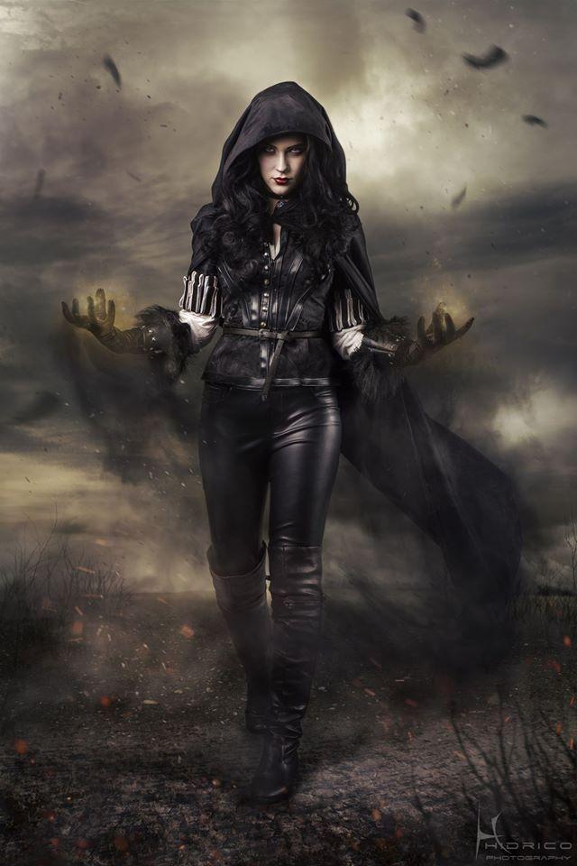 Eve Beauregard jako Yennefer.  Wiedźmin 3 The Witcher