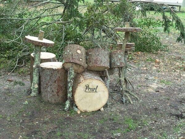Drum made by wood