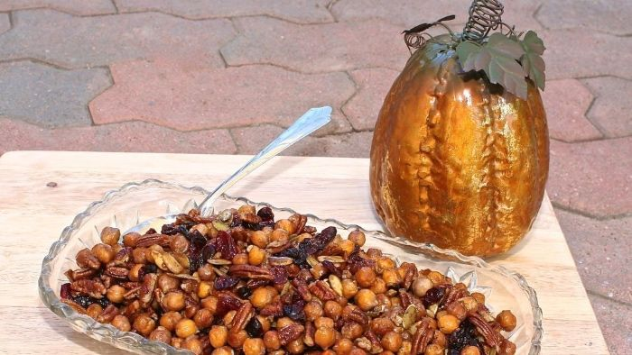 Maple Roasted Chickpeas (Gluten-Free, Vegan)   – Appetizers