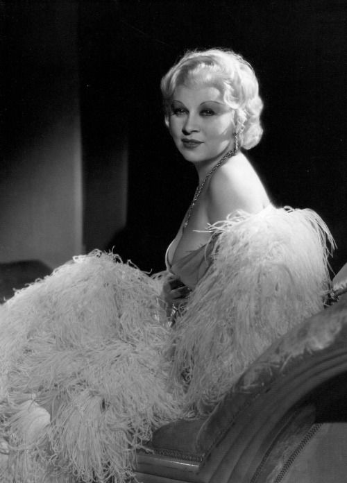 Mae West photographed by George Hurrell, 1933