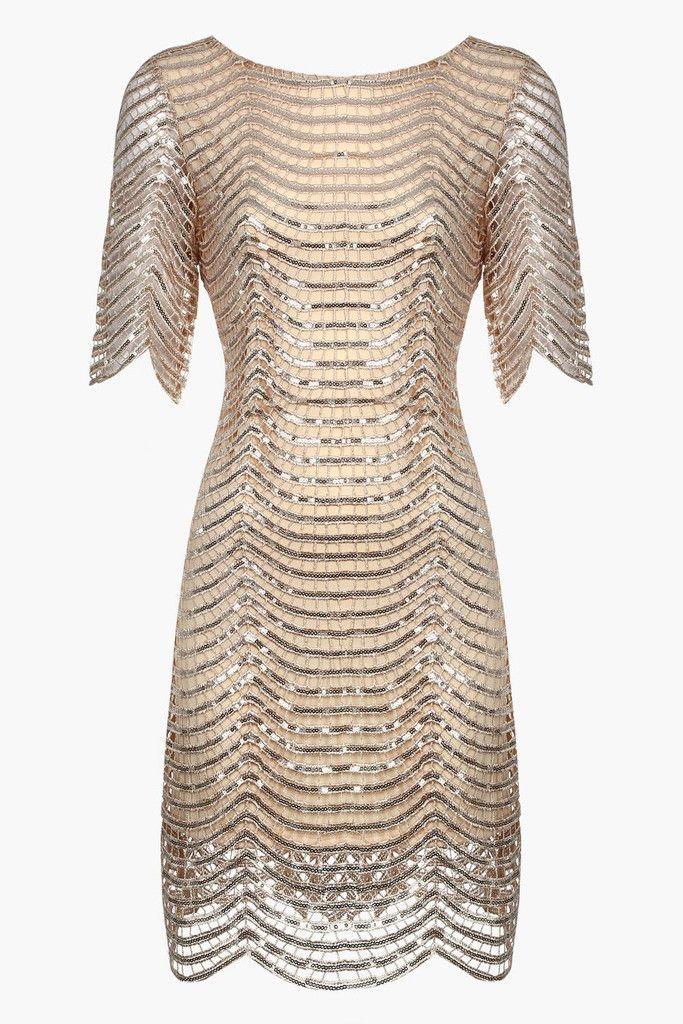 Gold Sequin Loose & Easy Mini Dress
