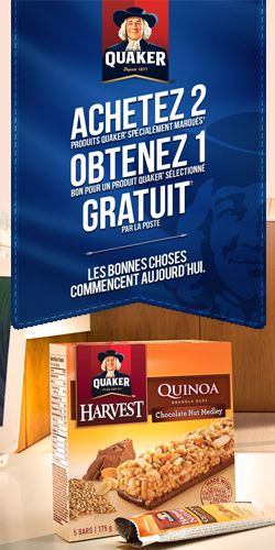 Offre de produits gratuits de Quaker