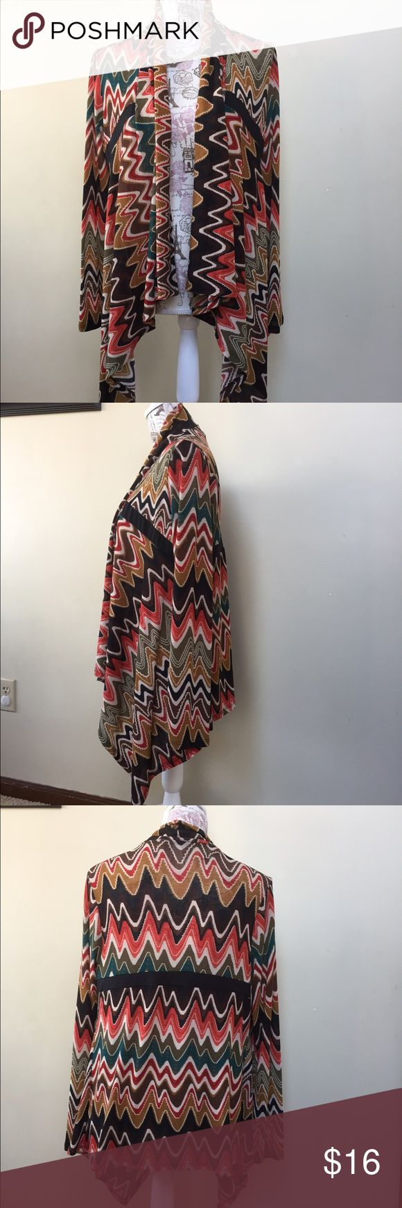 Tribal print cardigan.  Size Small. Cubism brand Beautiful blend of colors in this light-weight cardigan.  Sz Small. cubism Sweaters Cardigans