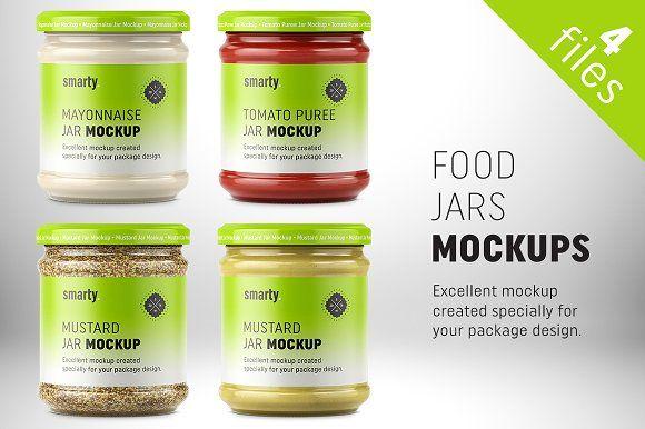 food jar mockups by smarty mockups on creativemarket product mockups pinterest food jar and mockup