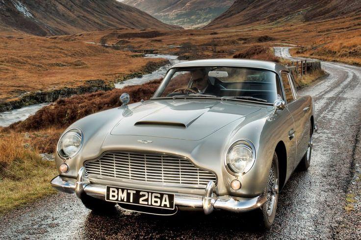 Aston Martin DB5 in Scottish Highlands