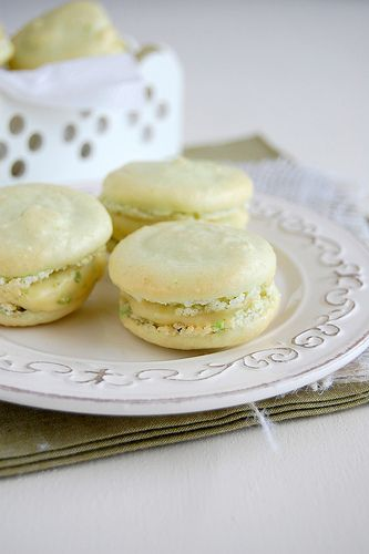 key lime macarons! i am OBSESSED with macarons lately.
