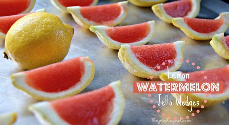 Lemon Watermelon Jello Wedges: The perfect summer treat!