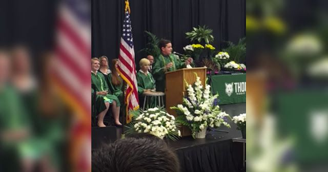 8th Grader Delivers A Graduation Speech But Everyone's SHOCKED When He Does This...