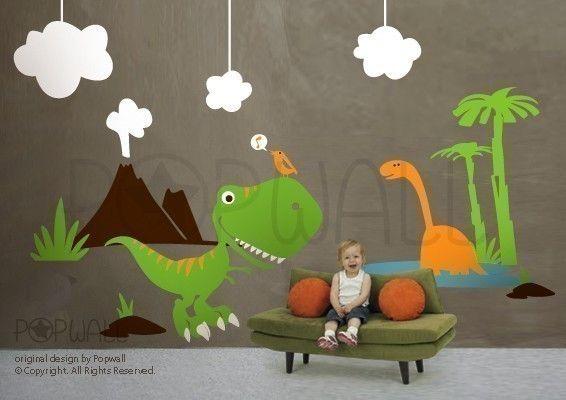 Children Wall Decal Wall Sticker Nursery Decal Dinosaur by NouWall, $160.00