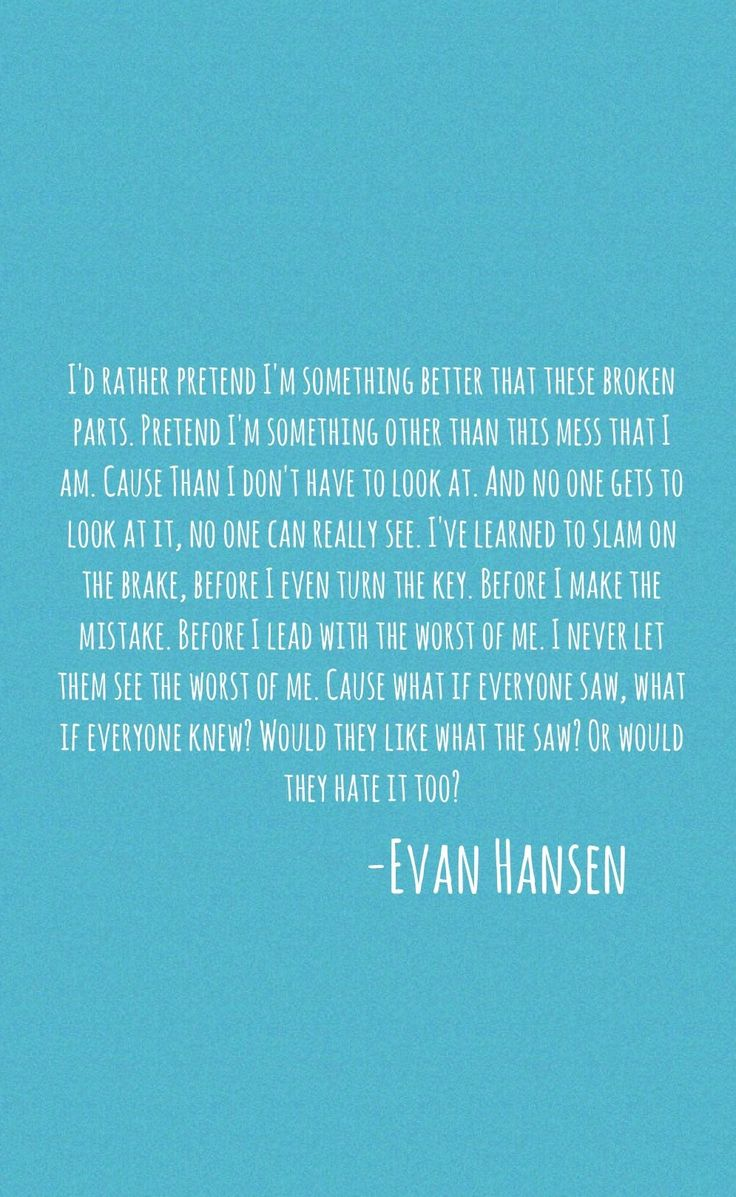 Dear Evan Hansen-Words Fail