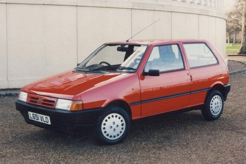 Fiat Uno 1990. It was really mum's car, but I learnt to drive in it, and promptly wrote it off on the M180 in June 1997 on the way to a wedding in Grimsby. Oops