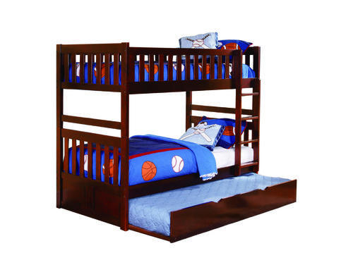 Homelegance Rowe Collection Twin Bunk Bed With Trundle B2013DC-1