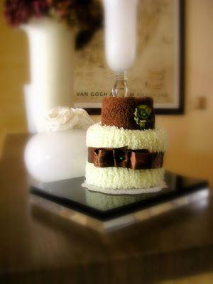Le creazioni di Carmen: Bomboniere Mini Cake asciugamani