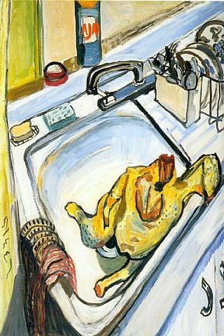 """""""Thanksgiving"""" Alice Neel, I would love this in my new kitchen from my favorite artist."""