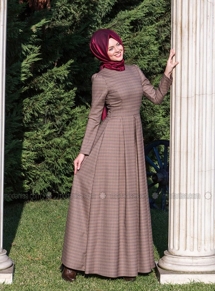 Monna Dress - Brown - Kubra Biriktir