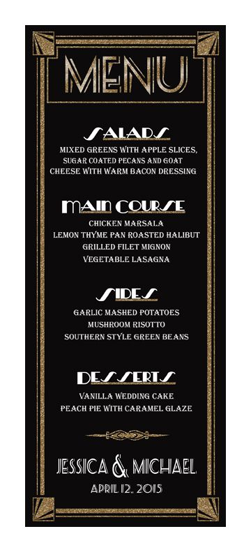 customized menu