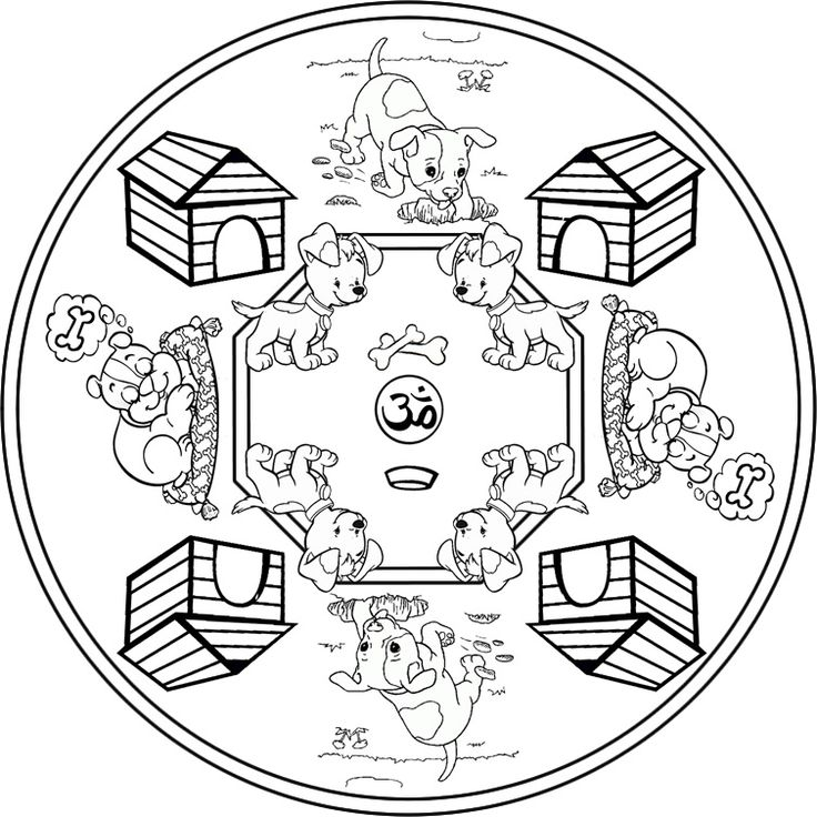 Mandalas Infantiles Para Colorear E Imprimir - AZ Dibujos para ...
