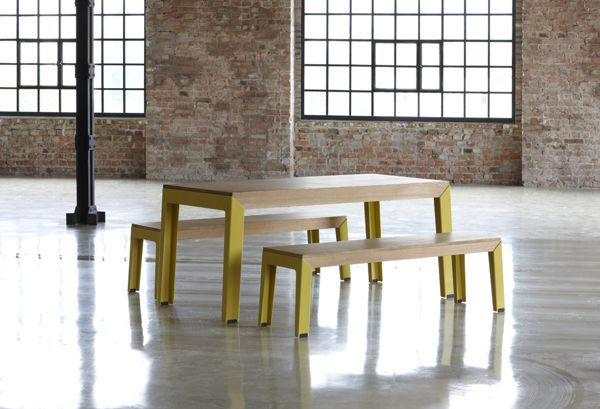 Masina extendable dinind table + bench | Loft Interior | Juhos Design Studio