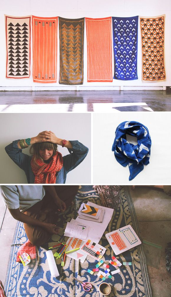 Block Shop via Unruly-Things: the Block Shop is an Indian textile company founded by sisters Lily and Hopie Stockman.  they've created a beautiful collection of scarves while working with a family of master printers in India, who have been hand block printing with natural dyes for over 350 years.  just stunning.