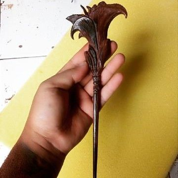 #latepost  Custom order rosewood carving hair stick with lily's flower design.. The customer who made this design is also called Lily from NYC. this hair stick is ordered via our Etsy shop before it closed by etsy  . .   #AyuTribalDotCom #AYUtribal #ayujewelry #hairstick #hairfork #hair #hairaccessories #woodhairstick #hairstyles #hairdo #woodenhairfork #hairpin #handmade #tribal #casualstyle #casual #hairstyles #bohostyle #jewelry #fashionjewelry #customorder #customdesign